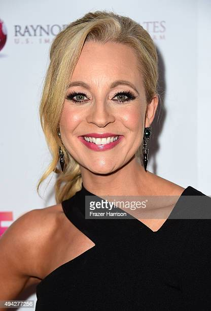 Actress Carrie Bickmore arrives at the 4th Annual Australians In Film Awards Benefit Dinner And Gala at InterContinental Hotel on October 25 2015 in...