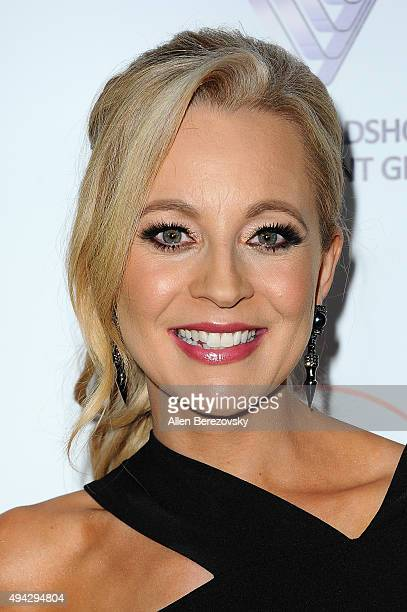 Actress Carrie Bickmore attends the 4th Annual Australians in Film Awards Benefit Dinner and Gala at InterContinental Hotel on October 25 2015 in...