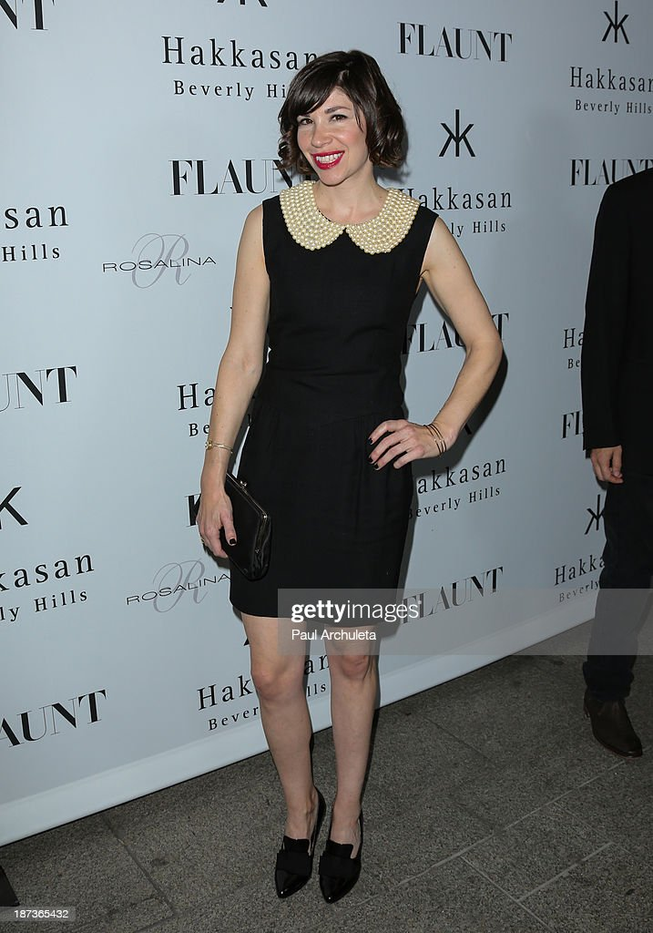 Actress Carrie Brownstein attends Flaunt magazine En Garde issue launch party on November 7 2013 in Beverly Hills California