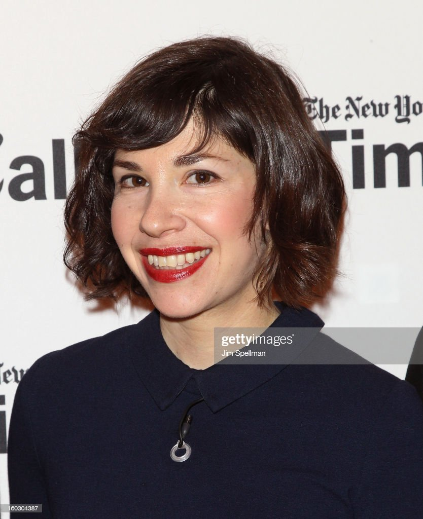 Actress <a gi-track='captionPersonalityLinkClicked' href=/galleries/search?phrase=Carrie+Brownstein&family=editorial&specificpeople=870017 ng-click='$event.stopPropagation()'>Carrie Brownstein</a> attends New York Times TimesTalks Presents: 'Portlandia' at TheTimesCenter on January 28, 2013 in New York City.