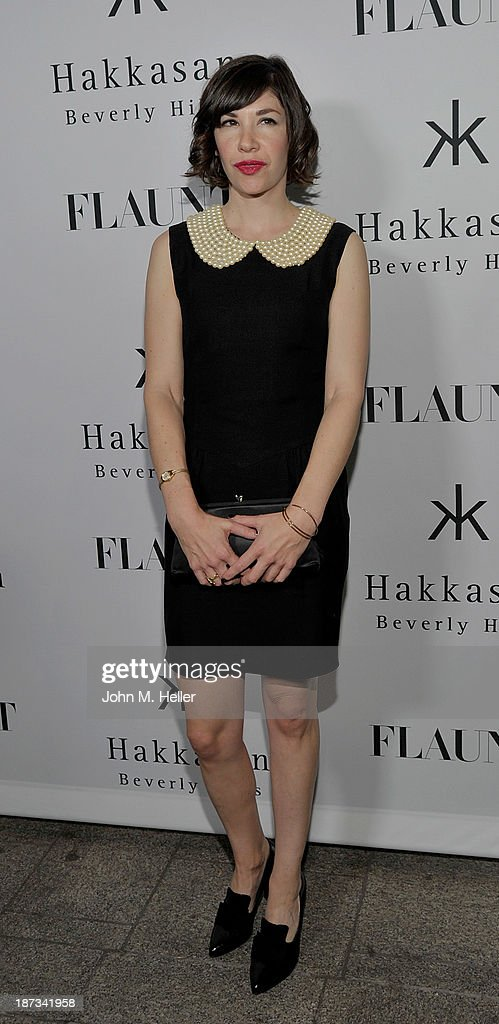 Actress Carrie Brownstein attends the Flaunt Magazine En Garde! Issue launch party with Selena Gomez and Amanda De Cadenet at Hakkasan Restaurant Beverly Hills on November 7, 2013 in Beverly Hills, California.