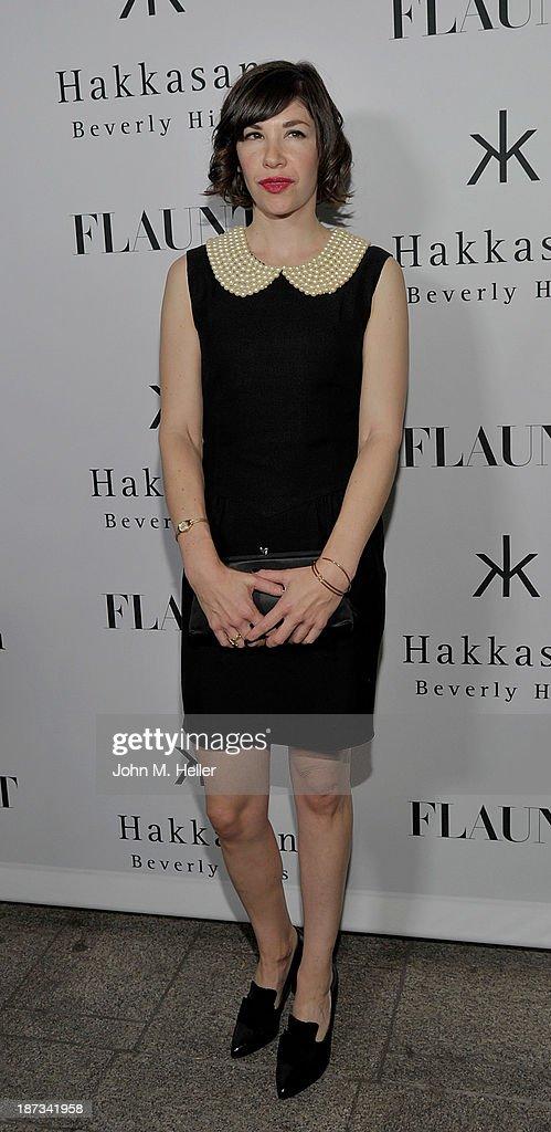Actress Carrie Brownstein attends the Flaunt Magazine En Garde Issue launch party with Selena Gomez and Amanda De Cadenet at Hakkasan Restaurant...