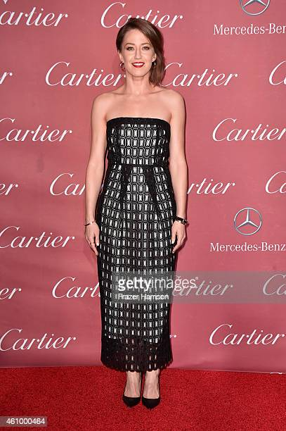 Actress Carrie Coon attends the 26th Annual Palm Springs International Film Festival Awards Gala at Parker Palm Springs on January 3 2015 in Palm...