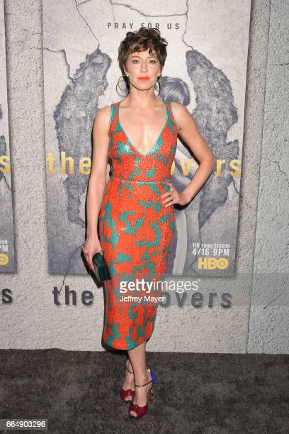 Actress Carrie Coon attends the premiere of HBO's 'The Leftovers' Season 3 at Avalon Hollywood on April 4 2017 in Los Angeles California