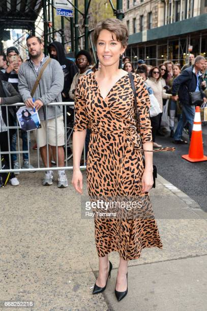 Actress Carrie Coon enters the 'AOL Build' taping at the AOL Studios on April 13 2017 in New York City