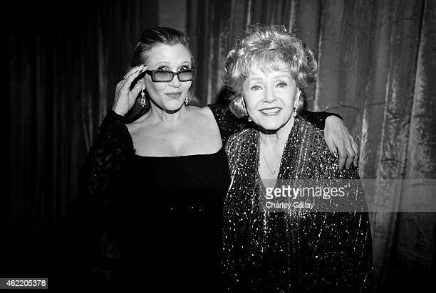 Actress Carrie Fisher and actress Debbie Reynolds attend TNT's 21st Annual Screen Actors Guild Awards at The Shrine Auditorium on January 25 2015 in...