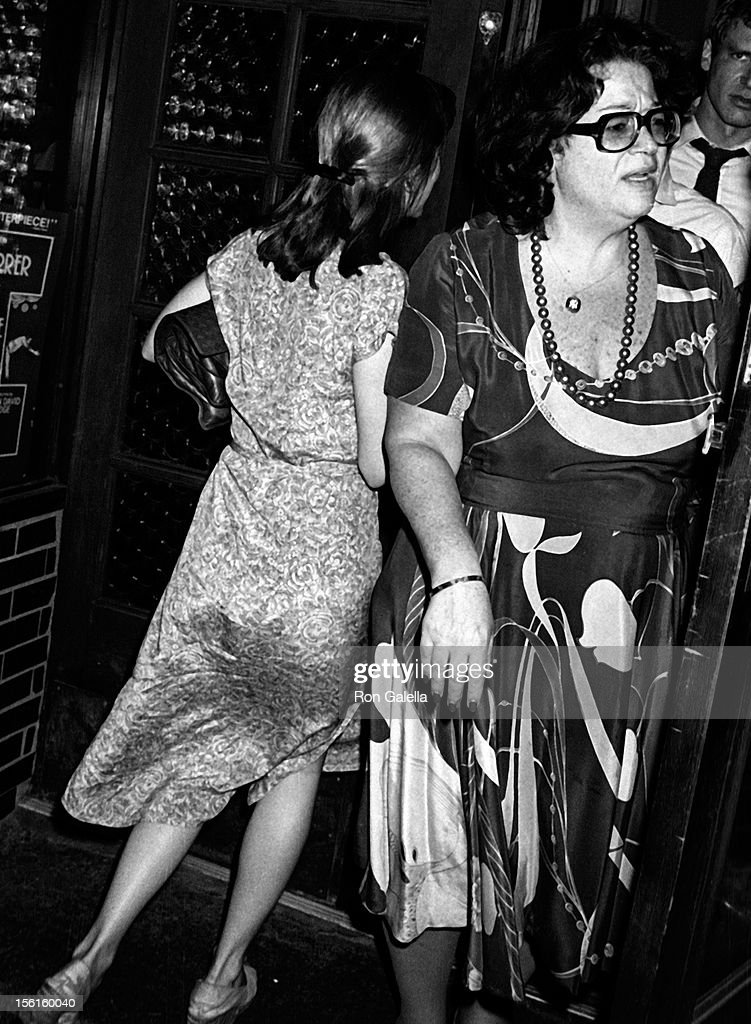 Actress Carrie Fisher and Elaine Kaufman sighted on June 3, 1978 at Elaine's Restaurant in New York City.