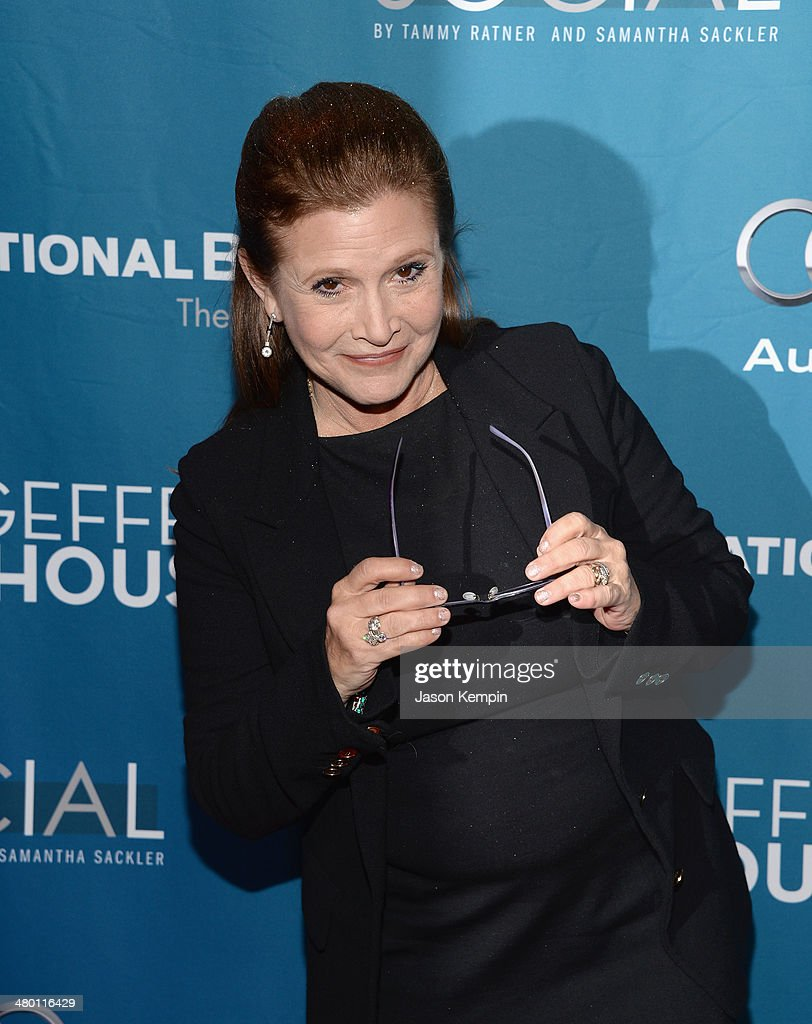 Actress <a gi-track='captionPersonalityLinkClicked' href=/galleries/search?phrase=Carrie+Fisher&family=editorial&specificpeople=209183 ng-click='$event.stopPropagation()'>Carrie Fisher</a> attends Geffen Playhouse's Annual 'Backstage At The Geffen' Gala at Geffen Playhouse on March 22, 2014 in Los Angeles, California.