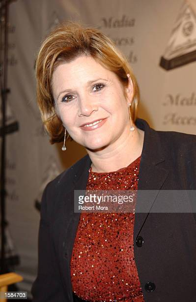 Actress Carrie Fisher attends the 20th Annual Media Access Awards at the Sheraton Universal Hotel on November 2 2002 in Los Angeles California The...