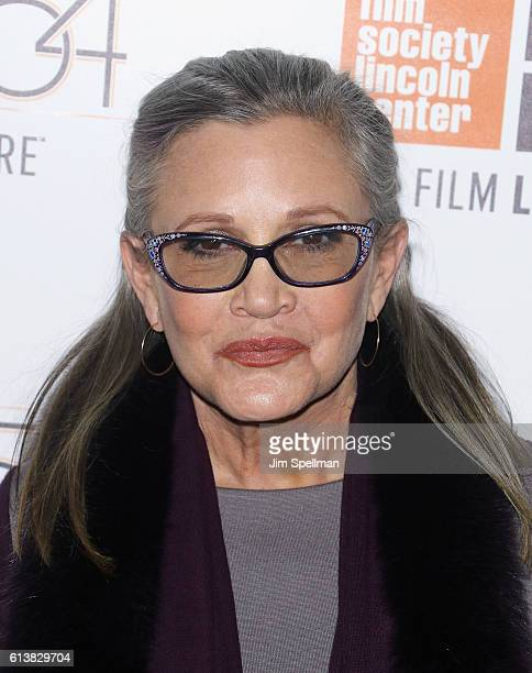Actress Carrie Fisher attends the 54th New York Film Festival 'Bright Lights' screening at Alice Tully Hall on October 10 2016 in New York City