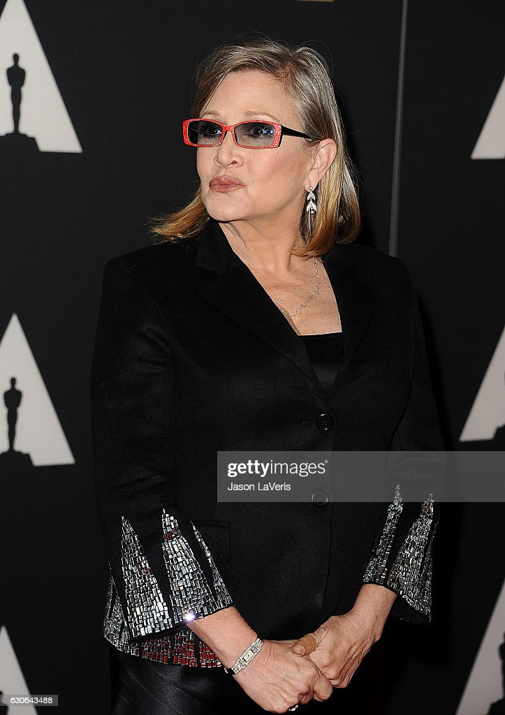 Actress Carrie Fisher attends the 7th annual Governors Awards at The Ray Dolby Ballroom at Hollywood & Highland Center on November 14, 2015 in Hollywood, California.
