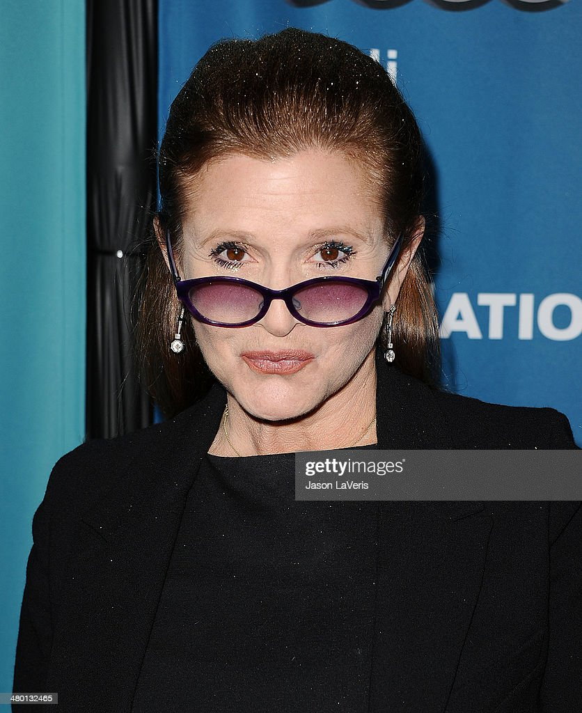 Actress <a gi-track='captionPersonalityLinkClicked' href=/galleries/search?phrase=Carrie+Fisher&family=editorial&specificpeople=209183 ng-click='$event.stopPropagation()'>Carrie Fisher</a> attends the Backstage at the Geffen annual fundraiser at Geffen Playhouse on March 22, 2014 in Los Angeles, California.