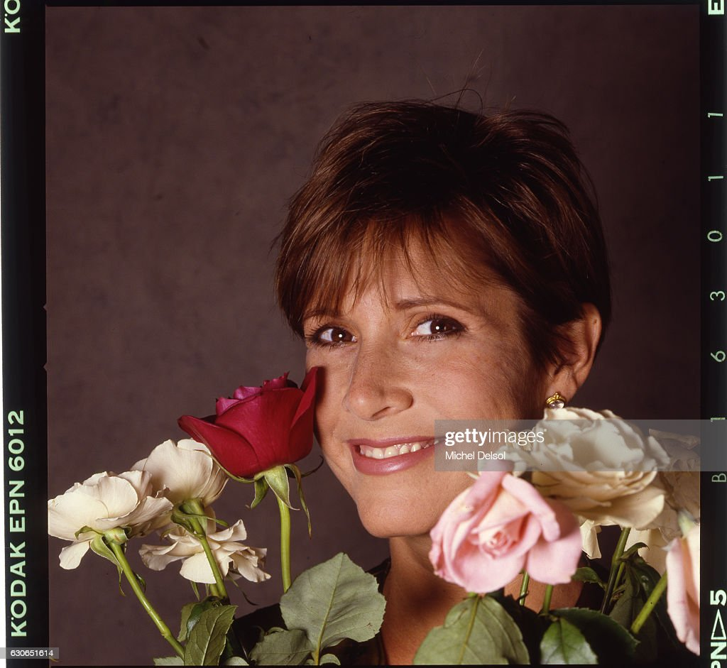 Actress Carrie Fisher posing for Premiere Magazine in 1989 in New York City.
