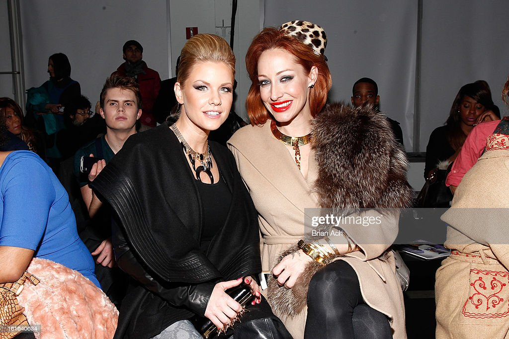 Actress Carrie Keagan (L) and stylist Niki Schwan attend Nolcha Fashion Week New York 2013 presented by RUSK at Pier 59 Studios on February 13, 2013 in New York City.