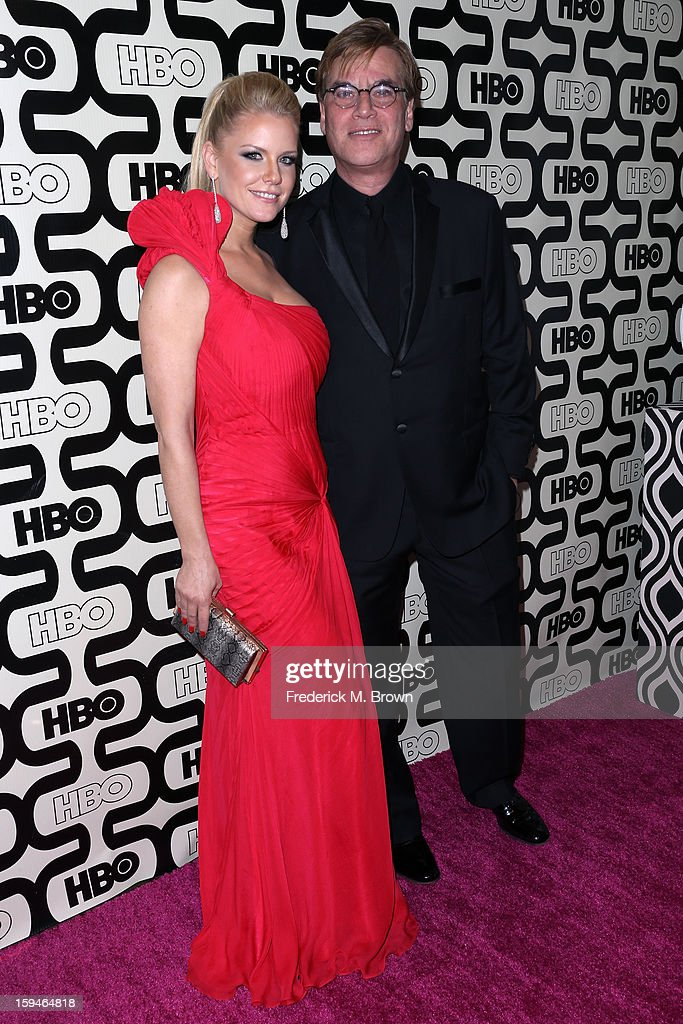 Actress <a gi-track='captionPersonalityLinkClicked' href=/galleries/search?phrase=Carrie+Keagan&family=editorial&specificpeople=2247557 ng-click='$event.stopPropagation()'>Carrie Keagan</a> and writer <a gi-track='captionPersonalityLinkClicked' href=/galleries/search?phrase=Aaron+Sorkin&family=editorial&specificpeople=673535 ng-click='$event.stopPropagation()'>Aaron Sorkin</a> attend HBO's Post 2013 Golden Globe Awards Party held at Circa 55 Restaurant at the Beverly Hilton Hotel on January 13, 2013 in Beverly Hills, California.