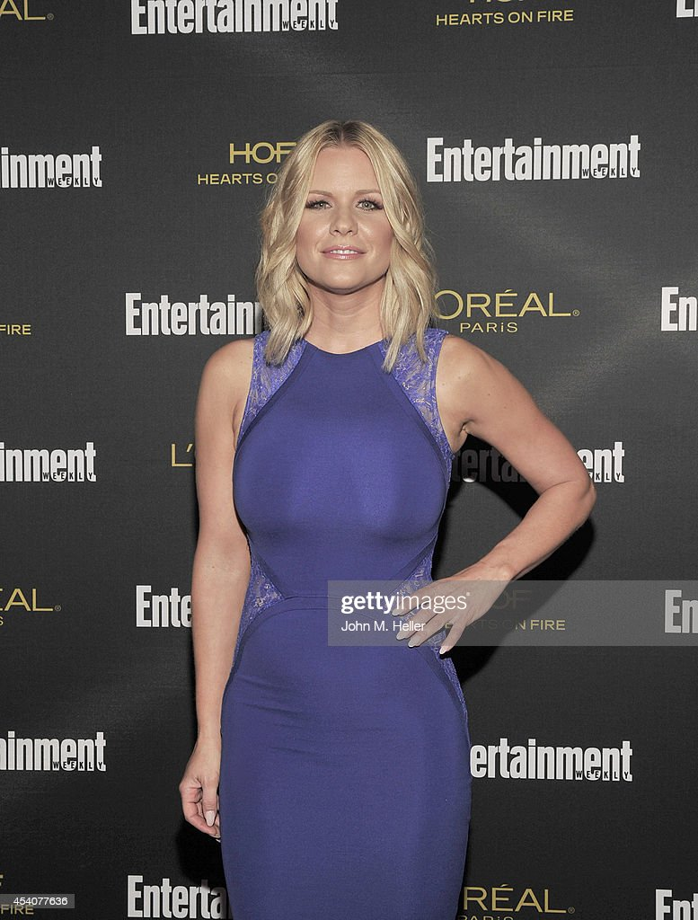 Actress Carrie Keagan attends Entertainment Weekly's Pre-Emmy Party at Fig & Olive on Melrose Place on August 23, 2014 in West Hollywood, California.