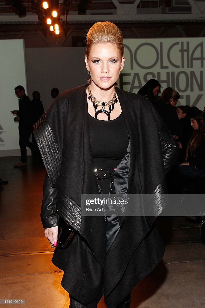 Actress Carrie Keagan attends Nolcha Fashion Week New York 2013 presented by RUSK at Pier 59 Studios on February 13, 2013 in New York City.