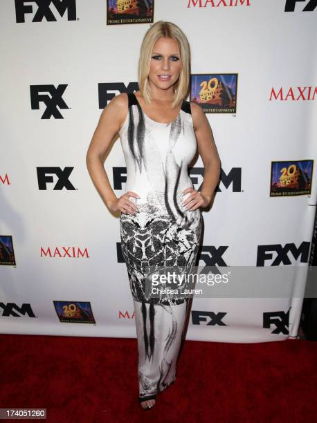 Actress Carrie Keagan attends the Maxim FX and Home Entertainment ComicCon Party on July 19 2013 in San Diego California