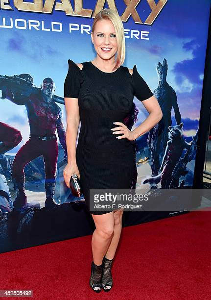 "Actress Carrie Keagan attends The World Premiere of Marvel's epic space adventure ""Guardians of the Galaxy"" directed by James Gunn and presented in..."