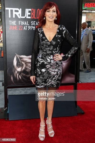 Actress Carrie Preston arrives at HBO's 'True Blood' final season premiere at TCL Chinese Theatre on June 17 2014 in Hollywood California