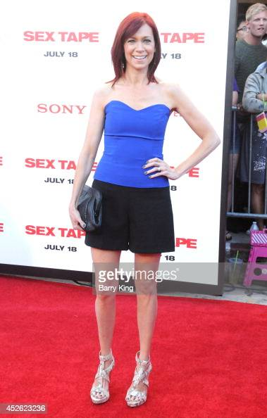 Actress Carrie Preston arrives at the Los Angeles Premiere 'Sex Tape' on July 10 2014 at Regency Village Theatre in Westwood California