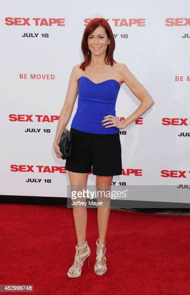 Actress Carrie Preston arrives at the 'Sex Tape' Los Angeles Premiere at Regency Village Theatre on July 10 2014 in Westwood California