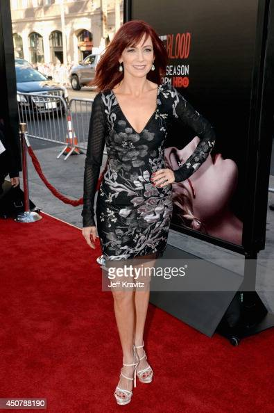 Actress Carrie Preston attends HBO 'True Blood' season 7 premiere at TCL Chinese Theatre on June 17 2014 in Hollywood California