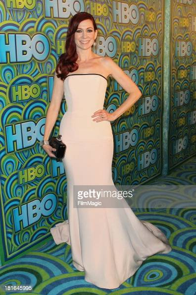 Actress Carrie Preston attends HBO's official Emmy after party at The Plaza at the Pacific Design Center on September 22 2013 in Los Angeles...