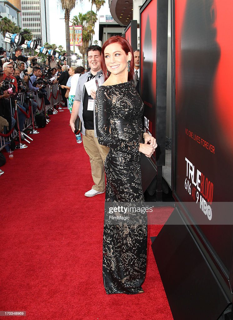 Actress Carrie Preston attends HBO's 'True Blood' season 6 premiere at ArcLight Cinemas Cinerama Dome on June 11, 2013 in Hollywood, California.