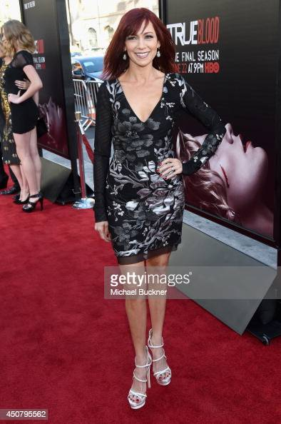 Actress Carrie Preston attends Premiere Of HBO's 'True Blood' Season 7 And Final Season at TCL Chinese Theatre on June 17 2014 in Hollywood California