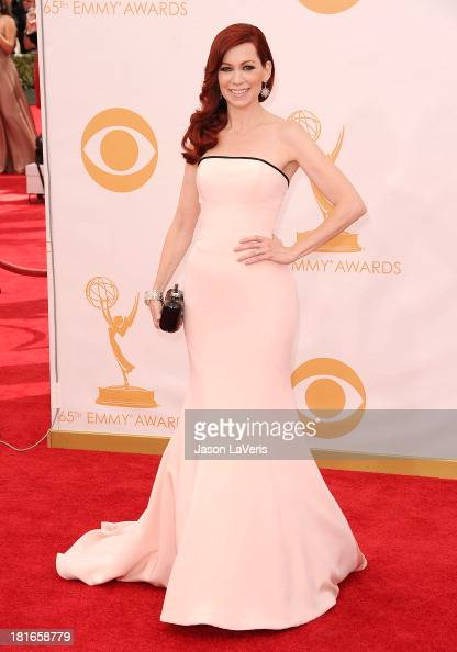 Actress Carrie Preston attends the 65th annual Primetime Emmy Awards at Nokia Theatre LA Live on September 22 2013 in Los Angeles California