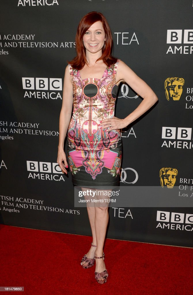 Actress <a gi-track='captionPersonalityLinkClicked' href=/galleries/search?phrase=Carrie+Preston&family=editorial&specificpeople=2220324 ng-click='$event.stopPropagation()'>Carrie Preston</a> attends the BAFTA LA TV Tea 2013 presented by BBC America and Audi held at the SLS Hotel on September 21, 2013 in Beverly Hills, California.