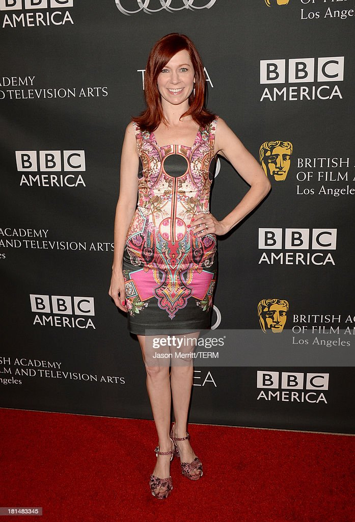 Actress Carrie Preston attends the BAFTA LA TV Tea 2013 presented by BBC America and Audi held at the SLS Hotel on September 21, 2013 in Beverly Hills, California.