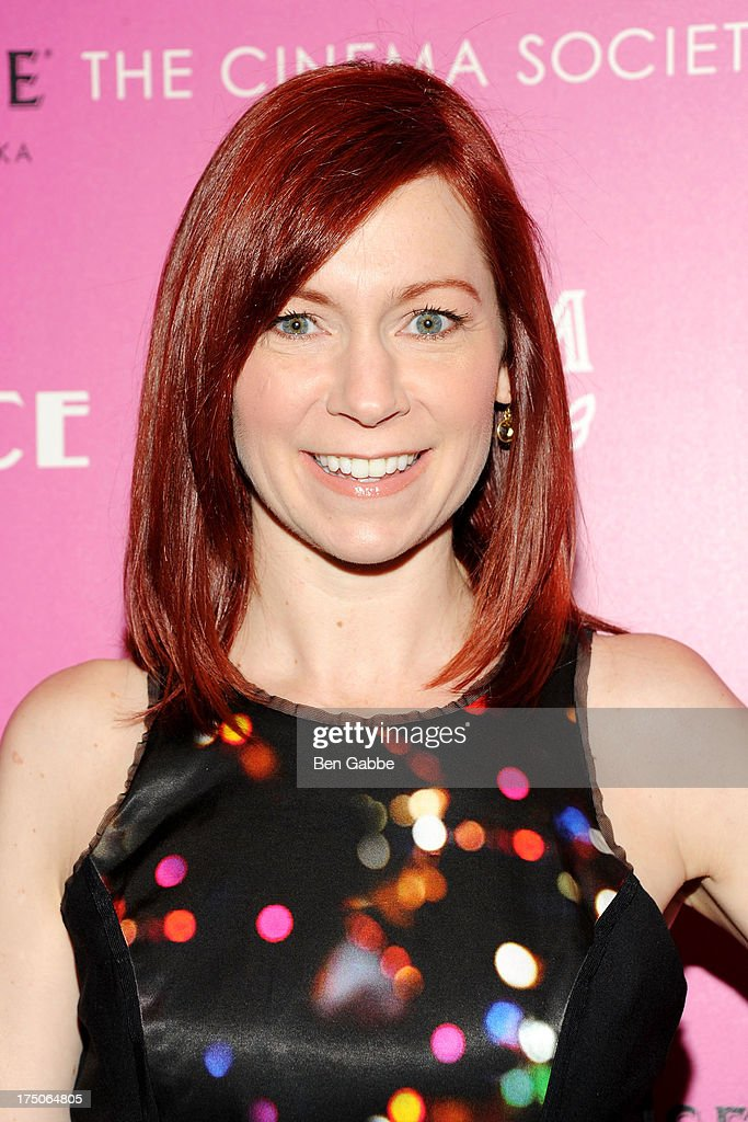 Actress Carrie Preston attends The Cinema Society and MCM with Grey Goose host a screening of Radius TWC's 'Lovelace' at The Museum of Modern Art on July 30, 2013 in New York City.