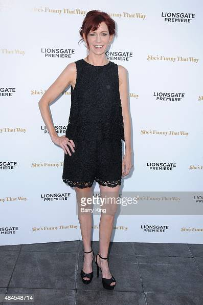Actress Carrie Preston attends the Los Angeles Premiere of Lionsgate's 'She's Funny That Way' at Harmony Gold on August 19 2015 in Los Angeles...