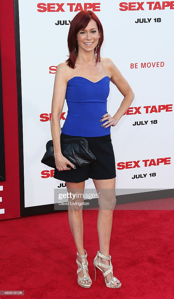 Actress Carrie Preston attends the premiere of Columbia Pictures' 'Sex Tape' at the Regency Village Theatre on July 10, 2014 in Westwood, California.