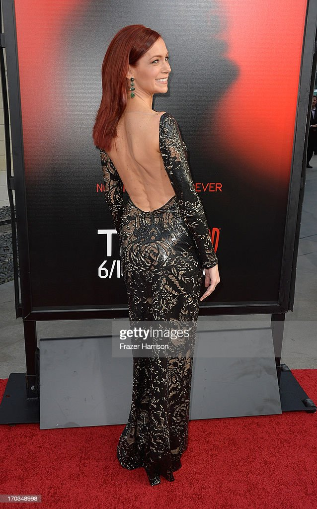 Actress Carrie Preston attends the premiere of HBO's 'True Blood' Season 6 at ArcLight Cinemas Cinerama Dome on June 11, 2013 in Hollywood, California.