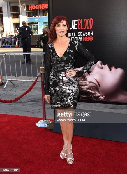 Actress Carrie Preston attends the premiere of HBO's 'True Blood' season 7 and final season at TCL Chinese Theatre on June 17 2014 in Hollywood...