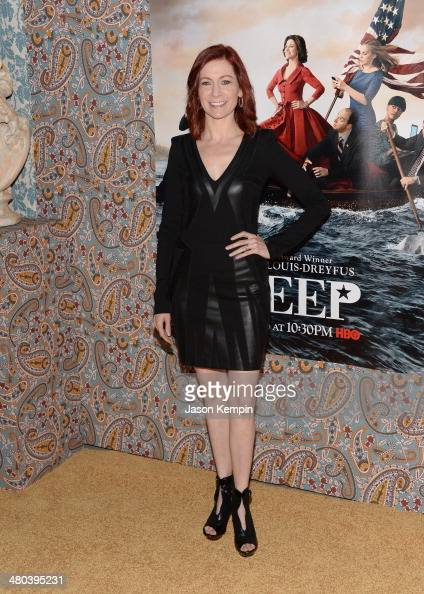 Actress Carrie Preston attends the premiere of HBO's 'Veep' 3rd Season at Paramount Studios on March 24 2014 in Hollywood California
