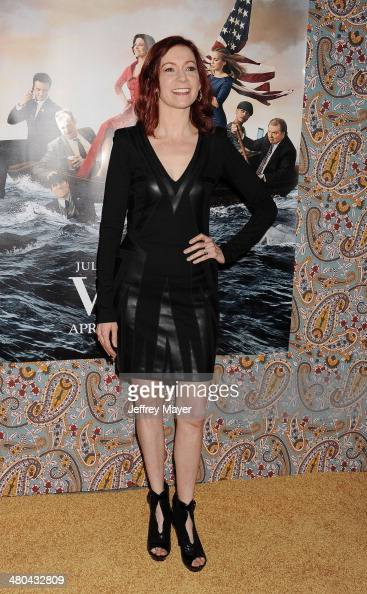 Actress Carrie Preston attends the premiere of HBO's 'Veep' 3rd season held at Paramount Studios on March 24 2014 in Hollywood California