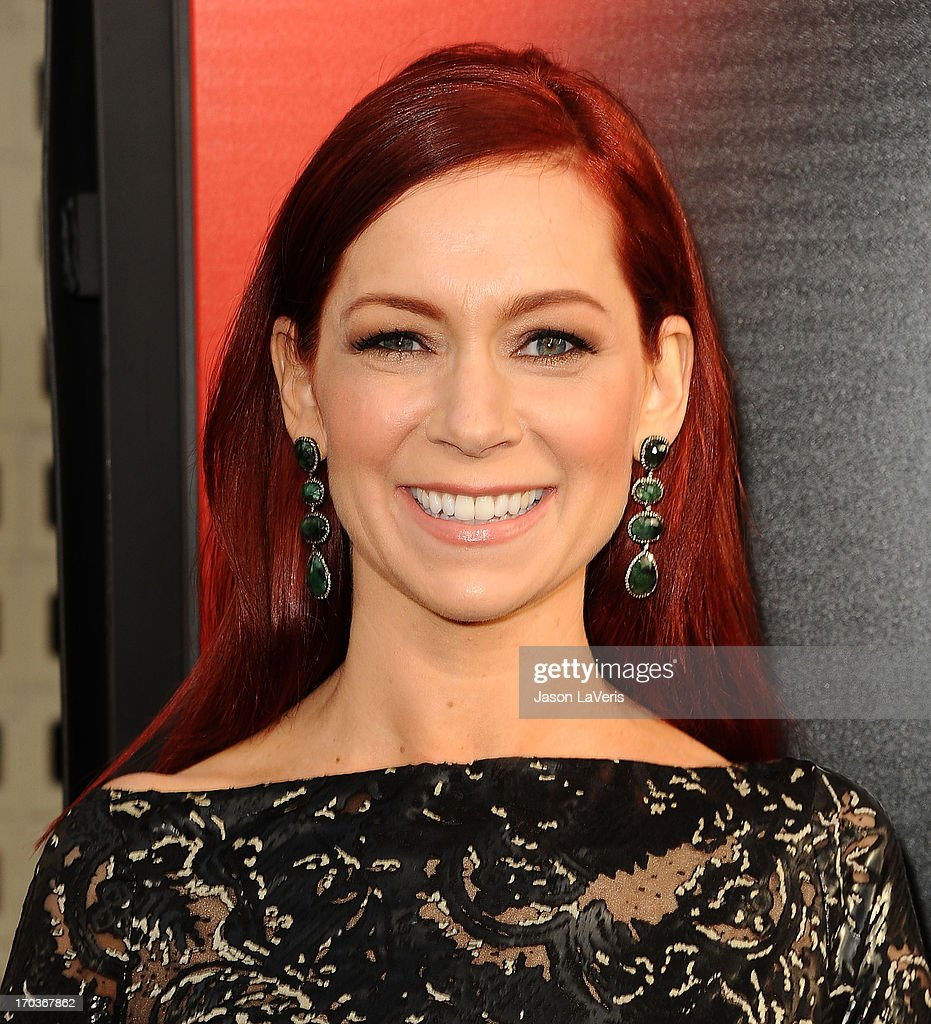 Actress Carrie Preston attends the season 6 premiere of HBO's 'True Blood' at ArcLight Cinemas Cinerama Dome on June 11, 2013 in Hollywood, California.