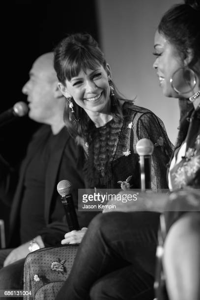 Actress Carrie Preston speaks onstage during the Claws and Cocktails event during TNT and TBS at Vulture Fest at Milk Studios on May 20 2017 in New...