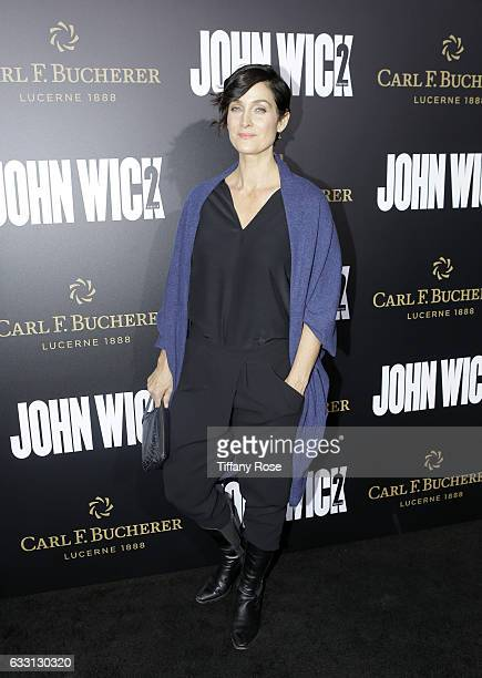 Actress CarrieAnne Moss attends the premiere of 'John Wick Chapter 2' sponsored by Carl F Bucherer at ArcLight Hollywood on January 30 2017 in...