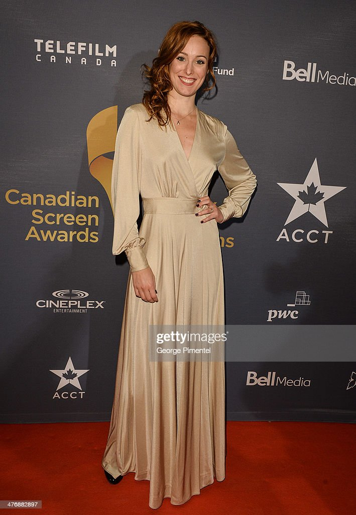 Actress Carrie-Lynn Neales attends the 2014 Canadian Screen awards Industry 2at the Sheraton Centre Toronto Hotel on March 5, 2014 in Toronto, Canada.