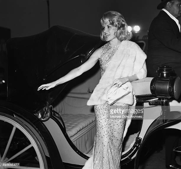Actress Carroll Baker arrives to a premier in Los Angeles California