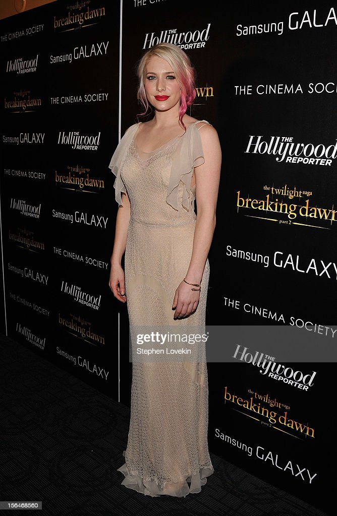 Actress Casey LaBow attends The Cinema Society with The Hollywood Reporter & Samsung Galaxy screening of 'The Twilight Saga: Breaking Dawn Part 2' on November 15, 2012 in New York City.