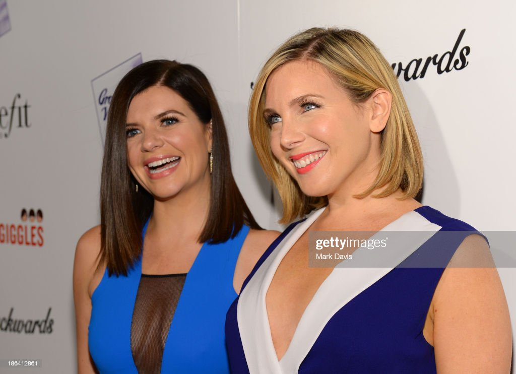 Actress Casey Wilson (L) and June Diane Raphael attend the premiere of Gravitas Ventures' 'Ass Backwards' at the Vista Theatre on October 30, 2013 in Los Angeles, California.