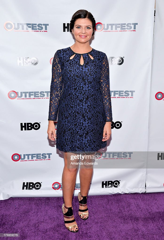 Actress Casey Wilson arrives at the 2013 Outfest Opening Night Gala of C.O.G. at The Orpheum Theatre on July 11, 2013 in Los Angeles, California.