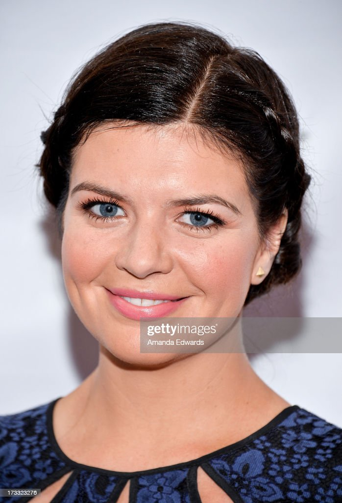 Actress <a gi-track='captionPersonalityLinkClicked' href=/galleries/search?phrase=Casey+Wilson&family=editorial&specificpeople=4980510 ng-click='$event.stopPropagation()'>Casey Wilson</a> arrives at the 2013 Outfest Opening Night Gala of C.O.G. at The Orpheum Theatre on July 11, 2013 in Los Angeles, California.