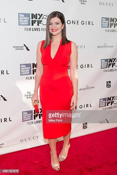 Actress Casey Wilson attends the Opening Night Gala Presentation And World Premiere Of 'Gone Girl' 52nd New York Film Festival at Alice Tully Hall on...